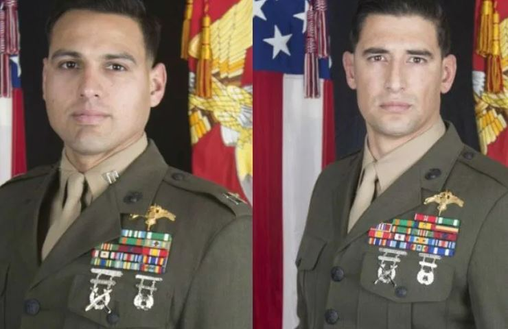 Capt. Moises A. Navas and Gunnery Sgt. Diego D. Pongo (Photo: Marine Forces, Special Operations Command)
