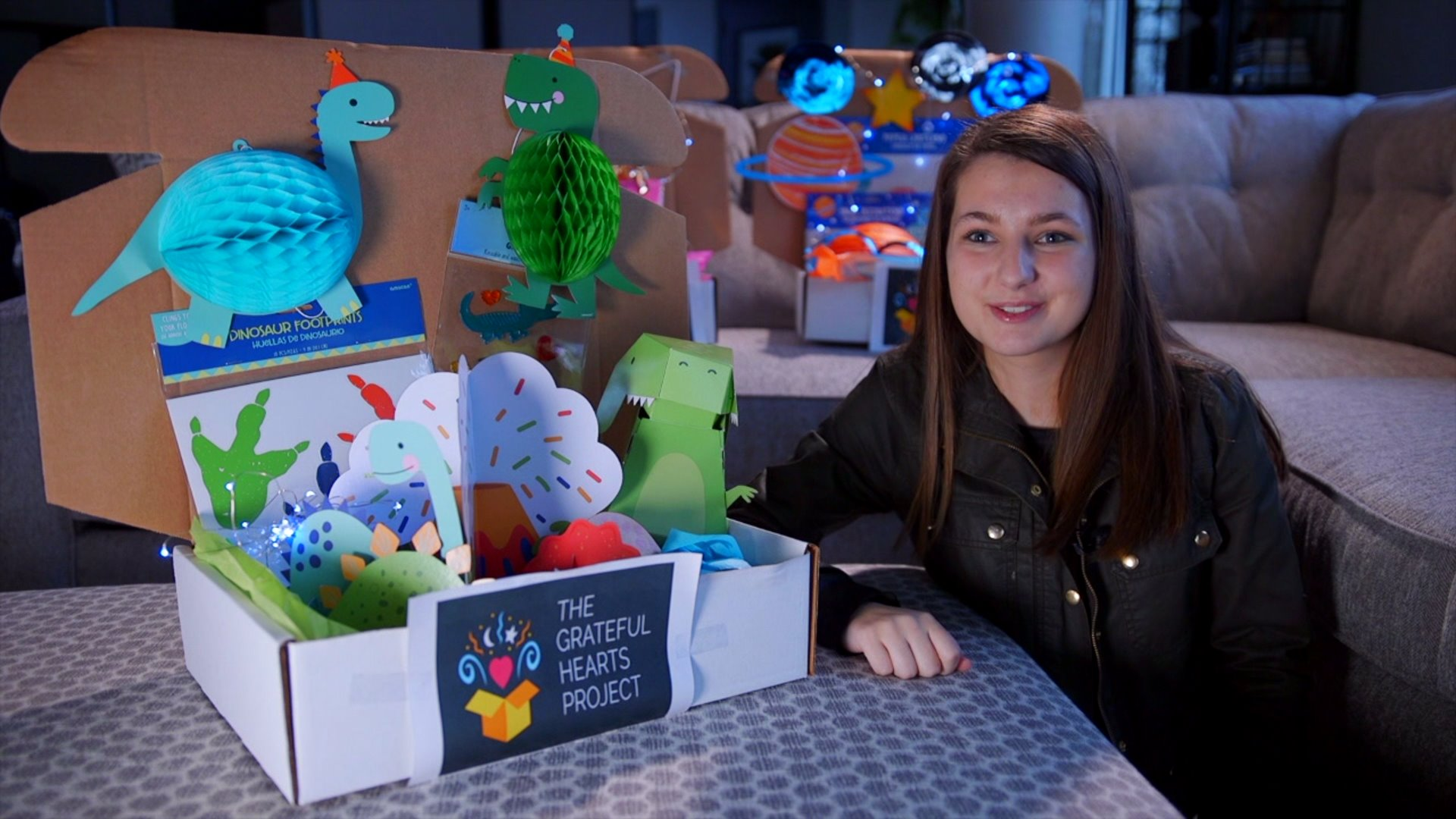 Page High School student helps children in the hospital decorate their rooms