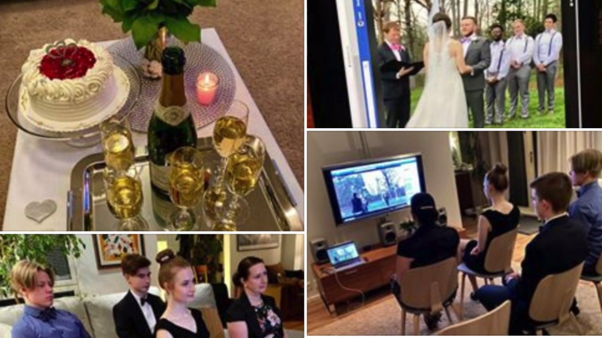 Local couple uses Facebook to 'invite' guests to their wedding amid coronavirus restrictions, streams wedding live