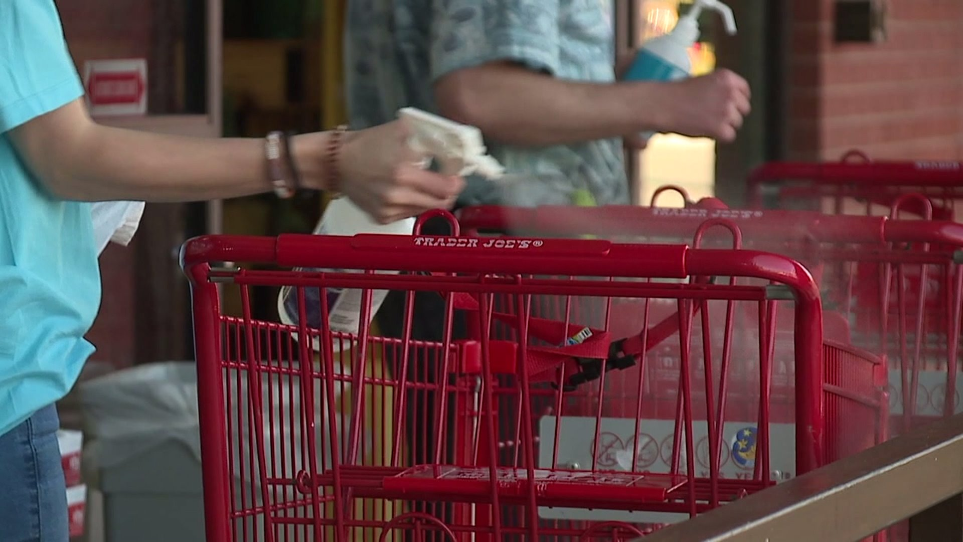 Triad grocery stores step up sanitation; more shoppers in masks