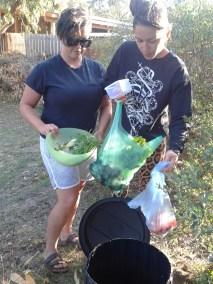 Inaugural compost dump
