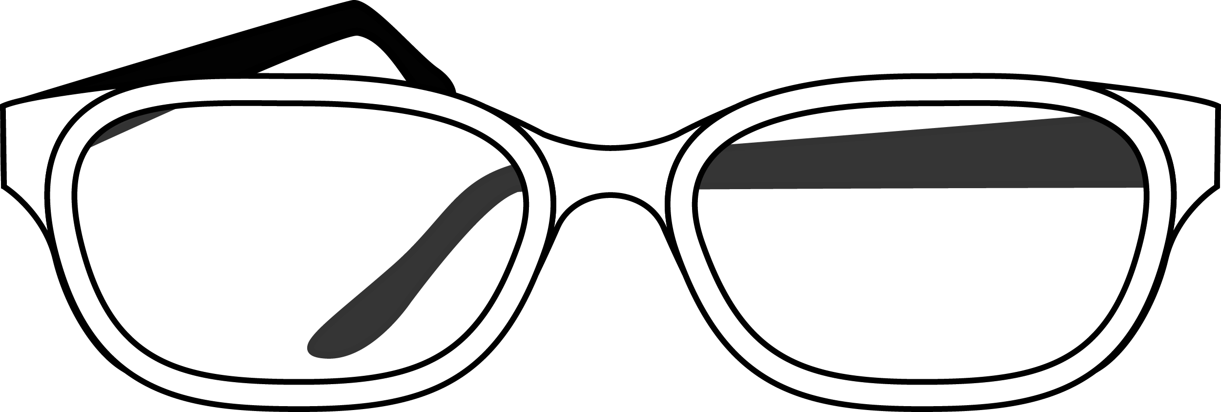 Glasses PNG with transparent glasses