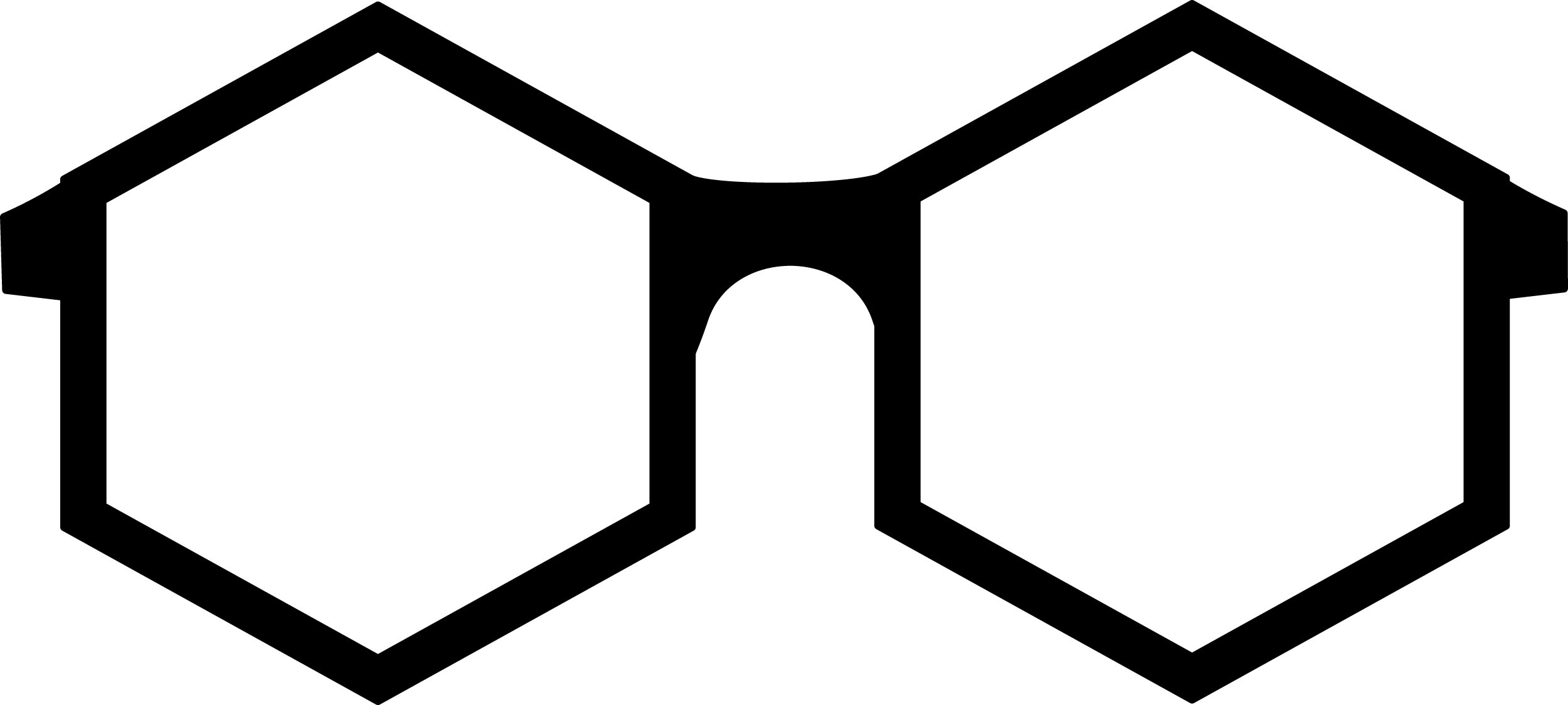Hexagon Shaped Glasses PNG 27