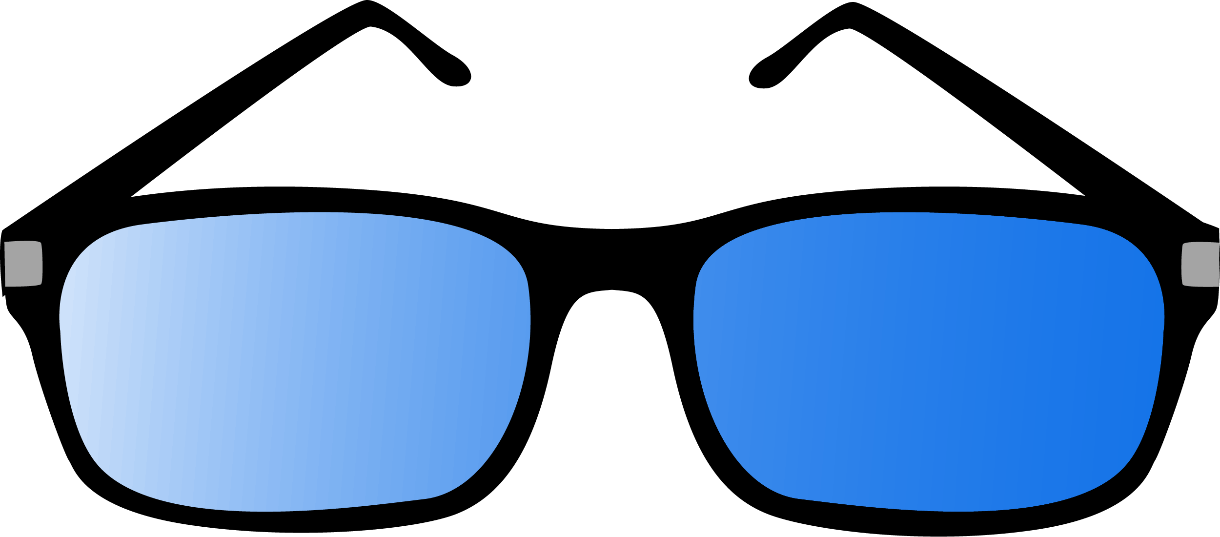 Polarized Blue Glasses PNG 10