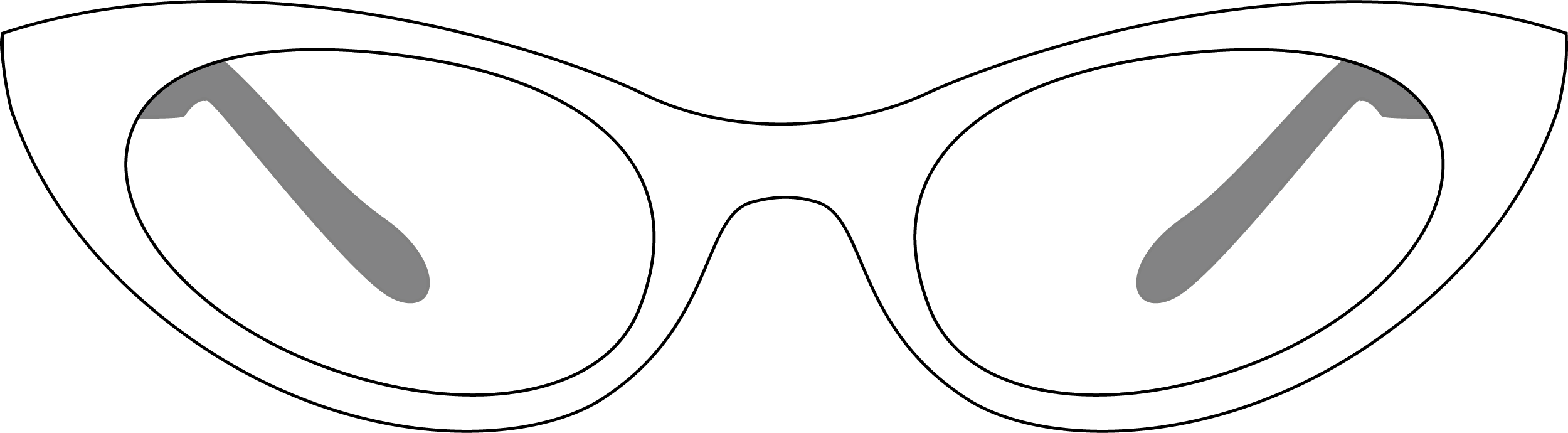 Retro Glasses PNG