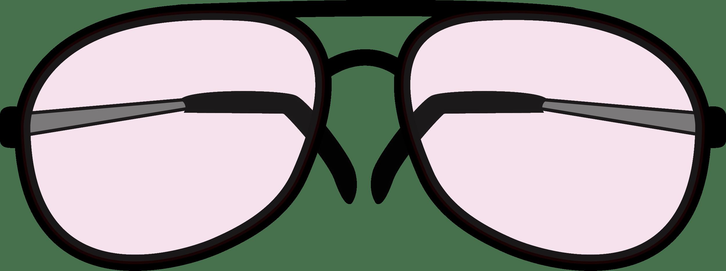 Rimmed Retro Glasses PNG
