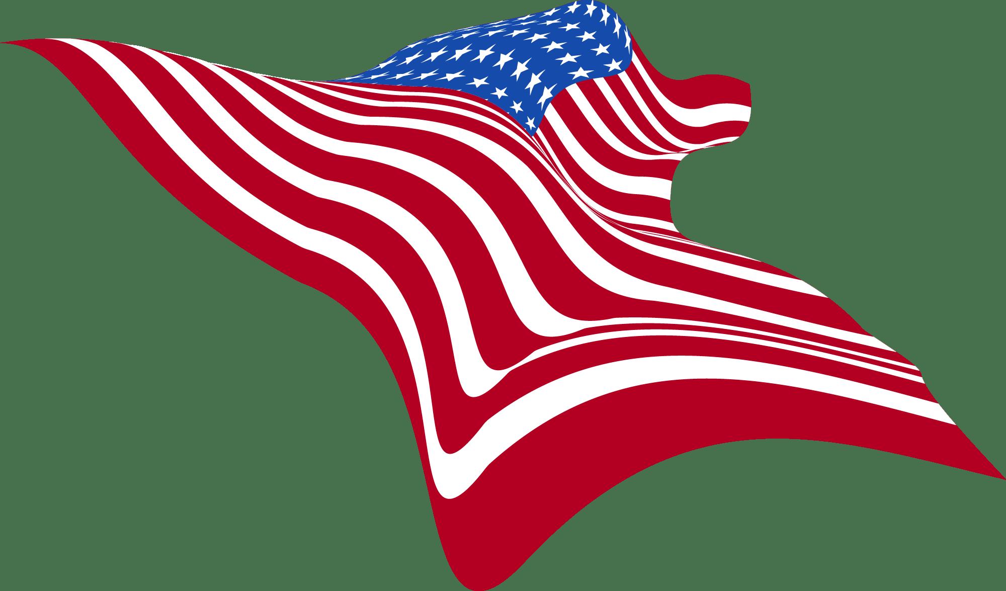 Wavy-USA-Flag-Clip-art