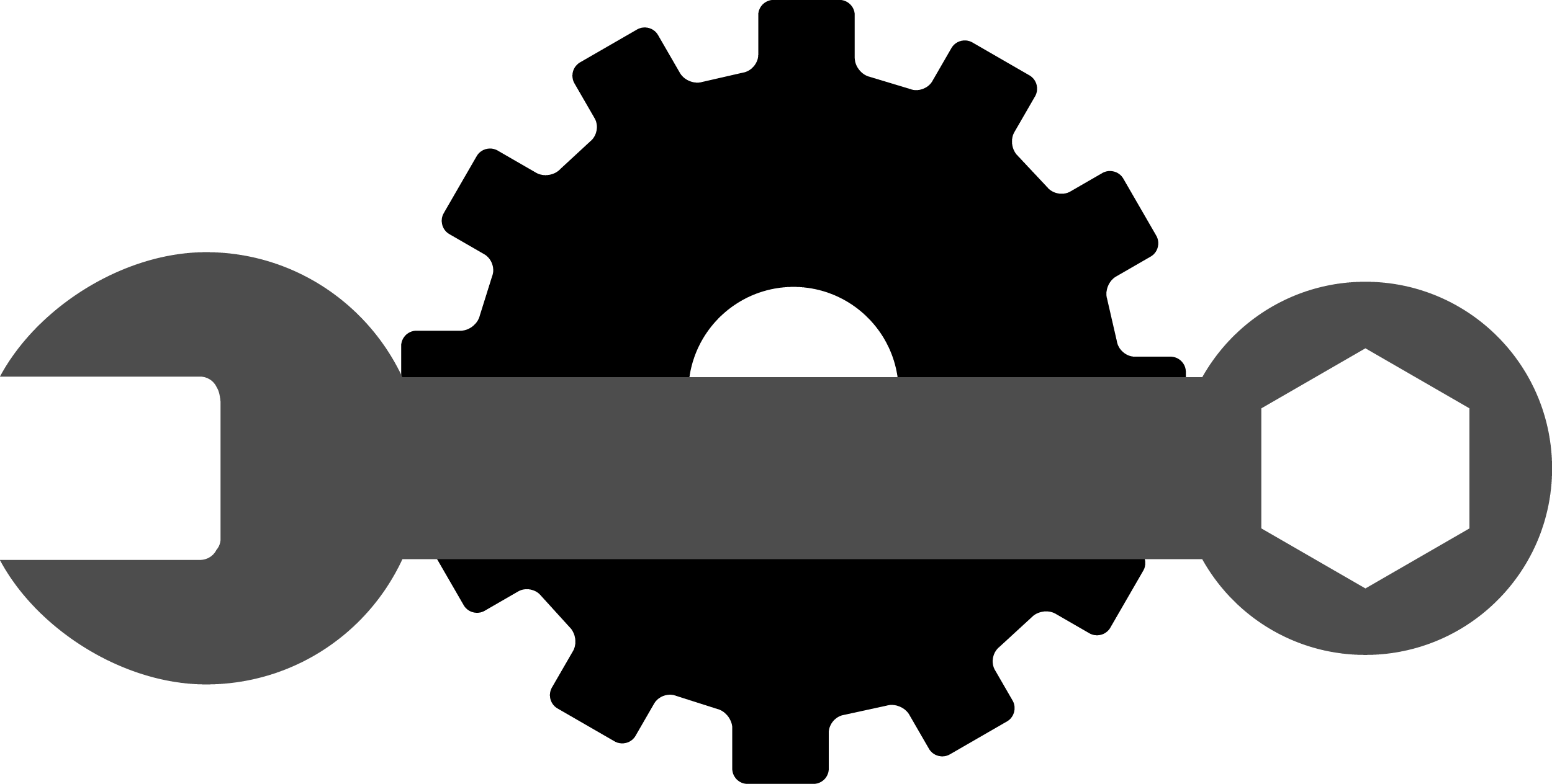 Gear and Wrench Logo PNG Clip-art