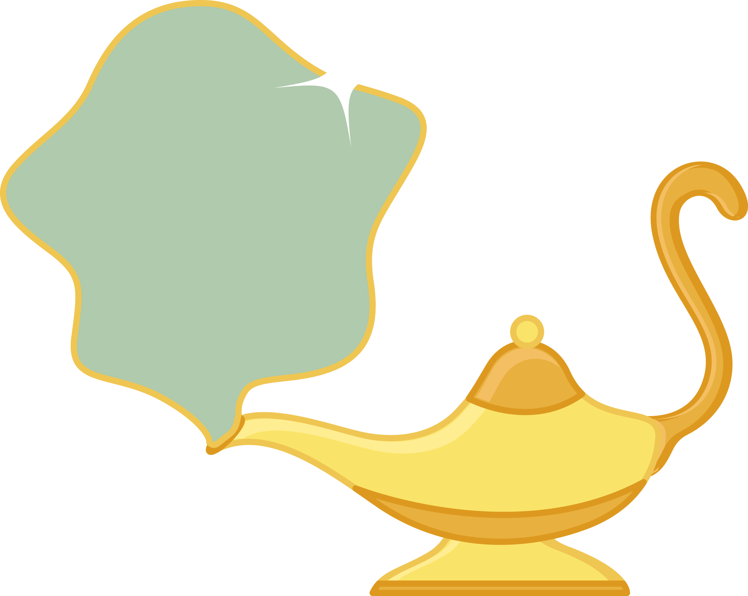 Magic Lamp PNG with Fog