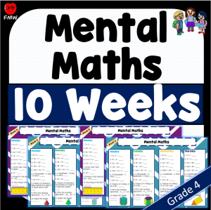 Grade 4 daily mental maths for 10 weeks to help students develop their mental maths skills.
