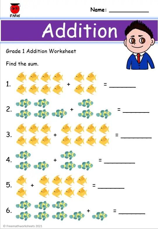 Grade 1 Addition Worksheets Free Worksheets Printables