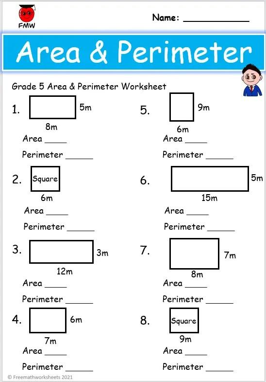 Grade 5 area and perimeter