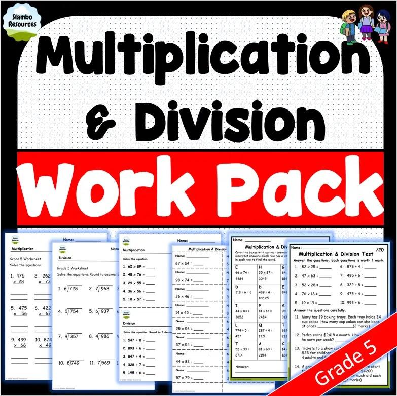 Grade 5 multiplication & division
