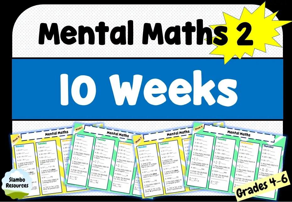 Grade 4 mental maths