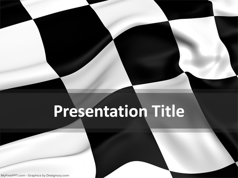 Racing Checkered Powerpoint Template Download Free