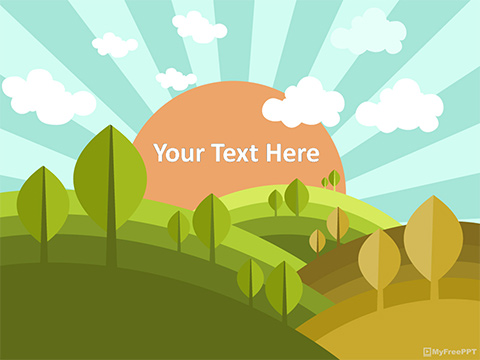Free PowerPoint Templates   MyFreePPT Landscape PowerPoint Template