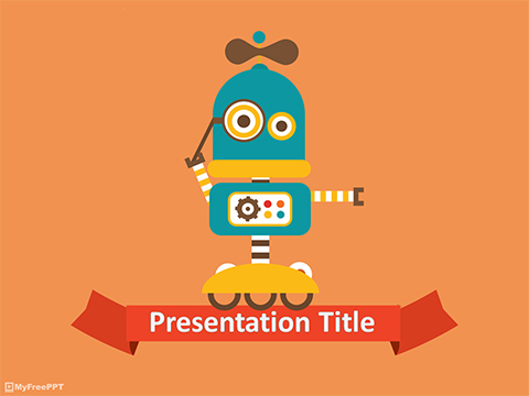 Free Robot Powerpoint Template Download Free Powerpoint Ppt
