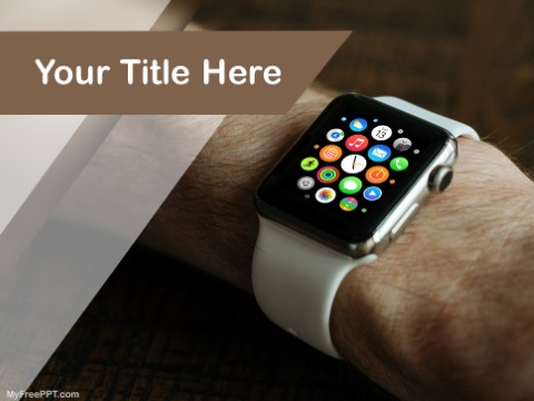 Free Apple Watch PPT Template