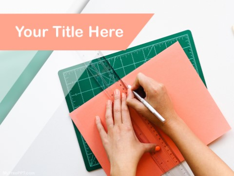 Free Archietect Drawing PPT Template