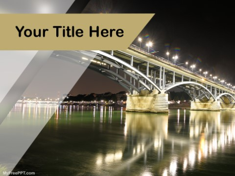 Free Architecture Bridge Building PPT Te