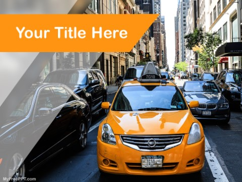 Free Cab Service PPT Template