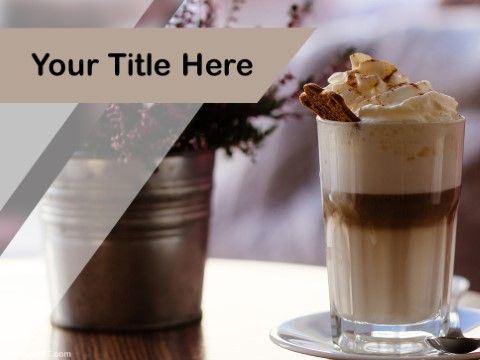 Free Cappuccino Ice Cream PPT Template
