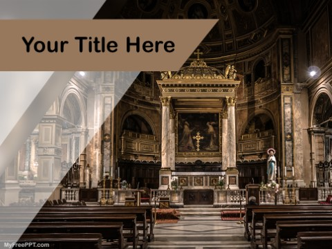 Free Cathedral Church PPT Template