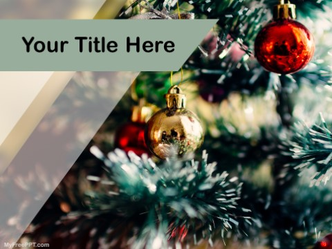 Free Christmas Decor PPT Template