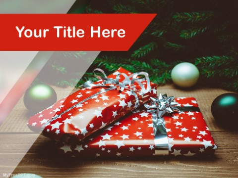 Free Christmas Gifts PPT Template