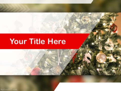 Free Christmas Tree PPT Template