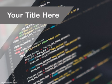Free Computer Programming Ppt Template Download Free