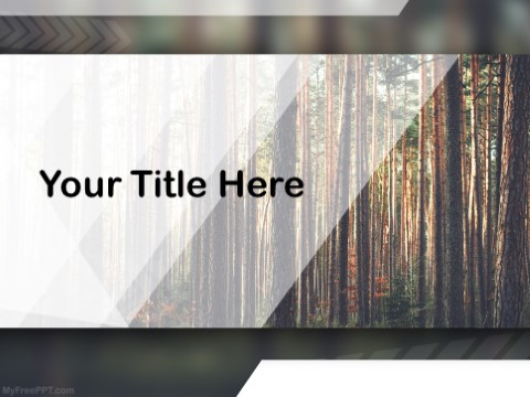 Free Conservation Of Forest PPT Template