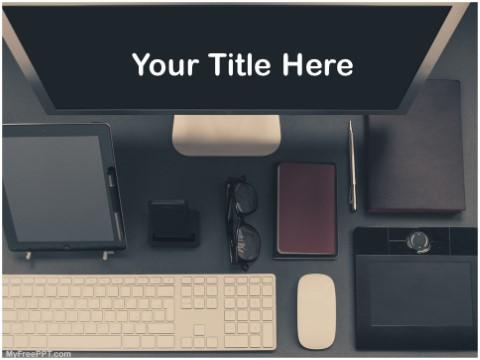 Free Designer Workstation PPT Template