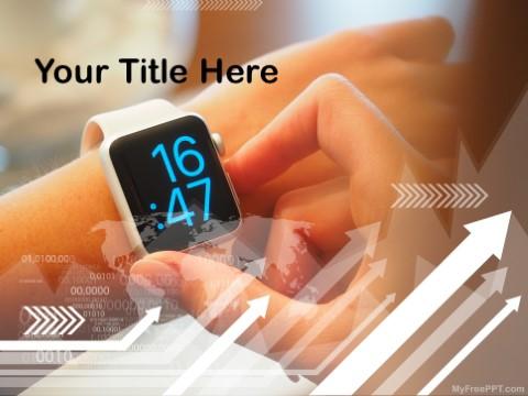 Free Digital Wristwatch PPT Template