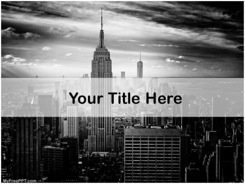 Free Empire State Building PPT Template