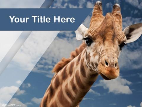 Free Giraffe PPT Template