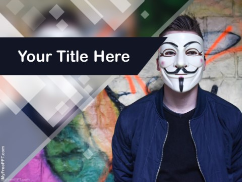 Free Guy Fawkes Mask PPT Template