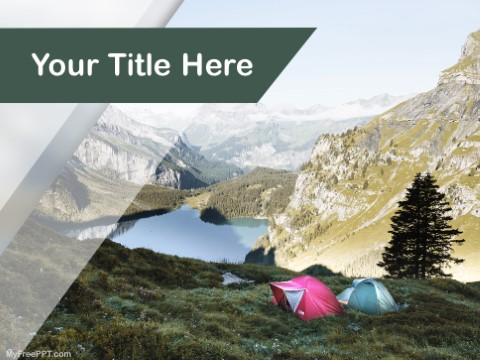 Free Hike Camping PPT Template