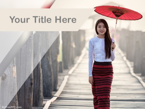 Free Japanese Traditional Fashion PPT T