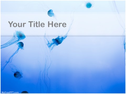 Free Jellyfish Jungle PPT Template