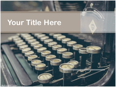 Free Learn To Type PPT Template