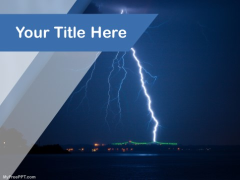 Free Lightning Crash PPT Template