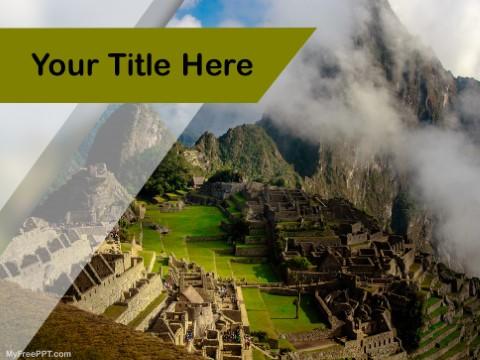 Free Machu Picchu PPT Template