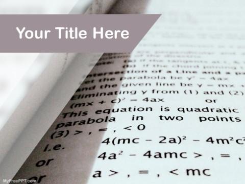 Free Mathematics PPT Template