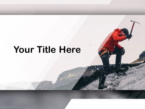 Free Mountain Climbing PPT Template
