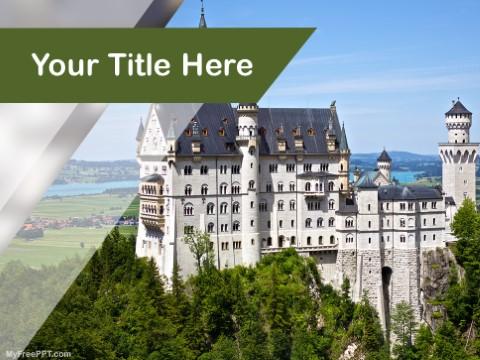 Free Neuschwanstein Castle PPT Template
