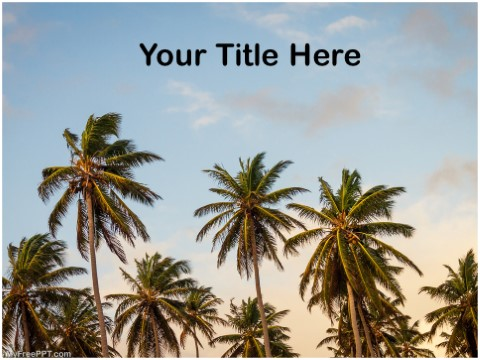 Free Palm Trees PPT Template