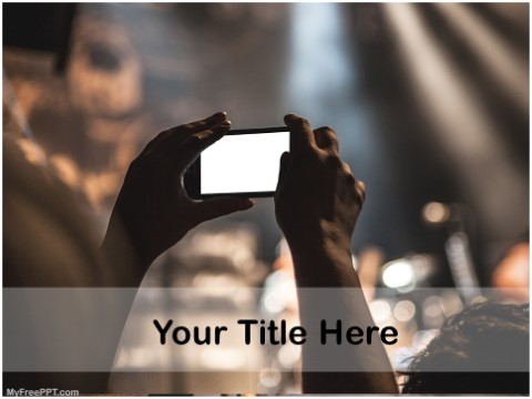 Free Photography In Crowd PPT Template