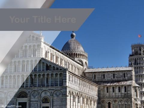 Free Piazza Dei Miracoli PPT Template