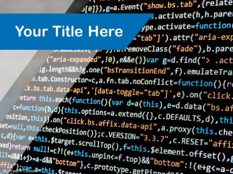Free Program Coding PPT Template